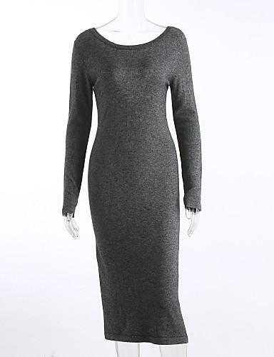 女性用 ヴィンテージ モダンシティ ストリートファッション プルオーバー - ソリッド