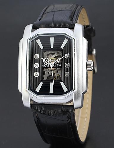 Hombre Reloj Deportivo / Reloj de Moda / Reloj de Vestir Los diseñadores / suizo Cuero Auténtico Banda Encanto / Casual Múltiples Colores / Cuerda Automática