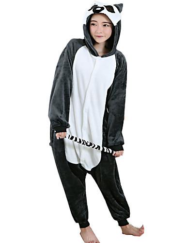 f5c3f1ba52 Adults  Cosplay Costume Kigurumi Pajamas Monkey Lemur Onesie Pajamas  Flannel Toison Black Cosplay For Men and Women Animal Sleepwear Cartoon  Festival .