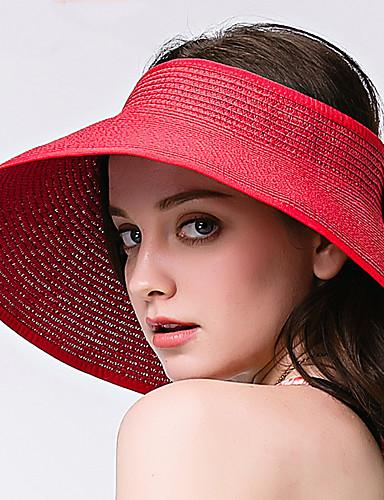 Mulheres Básico Chapéu de sol Sólido