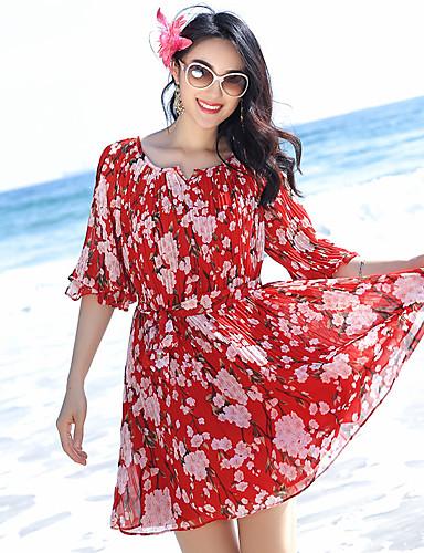 fffc137e badeby strand kjole bohemaktige kjolen chiffon skjørt var tynn strand kjole,  thailand