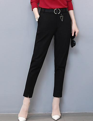 Dámské Jednoduchý Mikro elastické Kalhoty chinos Kalhoty Volné Mid Rise Ostatní Jednobarevné
