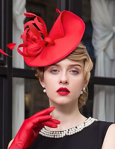ราคาถูก งานแต่งงาน-ขนนก / ผ้า Kentucky Derby Hat / fascinators / หมวก กับ 1 งานแต่งงาน / โอกาสพิเศษ / ที่มา หูฟัง