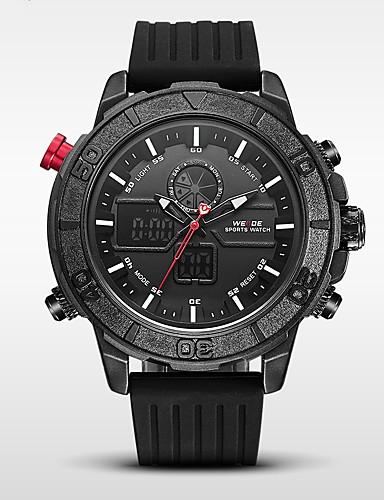 WEIDE Homens Digital Quartzo Japonês Relógio Militar Relógio Esportivo Japanês Alarme Calendário Impermeável LED Cronômetro Dois Fusos