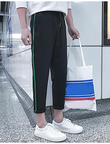 Dámské Jednoduchý Vysoká pružnost Kalhoty chinos Kalhoty Rovné Low Rise Jednobarevné Barevné bloky