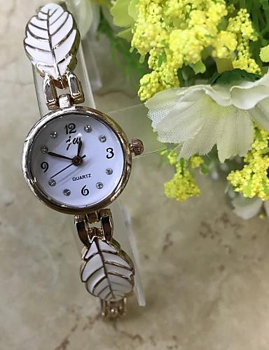 Damen Simulierter Diamant Uhr Armbanduhr Armband-Uhr Modeuhr Chinesisch Quartz / Imitation Diamant Legierung Band Freizeit Rotgold