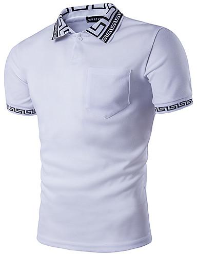 للرجال تيشرت قطن سادة بلوك ألوان قبعة القميص