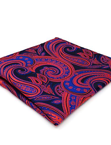trabalho bonito do partido do vintage dos homens quadrados ocasionais do bolso da gravata do rayon - jacquard de bloco paisley da cor, básico