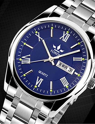 Homens Relógio de Pulso Relógio Casual Lega Banda Amuleto / Fashion Prata