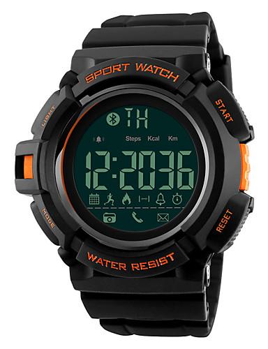 SKMEI Homens Relógio Esportivo / Relógio Militar / Relógio de Pulso Japanês Bluetooth / Alarme / Calendário Silicone Banda Fashion Preta / Cronógrafo / Impermeável / Controlo Remoto / Cronômetro