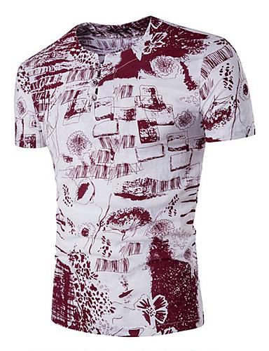 Herrn Solide Baumwolle T-shirt, Rundhalsausschnitt Druck