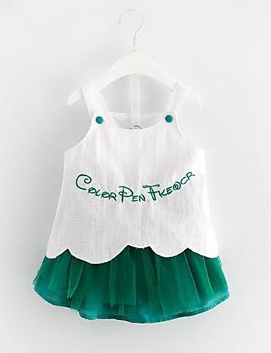 Mädchen Sets Bestickt Baumwolle Polyester Sommer Ärmellos Kleidungs Set