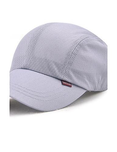 قبعة البيسبول / قبعة شمسية لون سادة للجنسين بوليستر, عمل