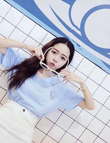 Damen Buchstabe - Freizeit Baumwolle T-shirt / Sommer