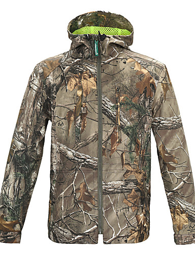 7c824c9c60fb4 Men's Camo / Camouflage Camouflage Hunting Jacket Outdoor Breathability  Wearproof Top Spring Summer Fall Terylene Long Sleeve Camping / Hiking,  Hunting, ...
