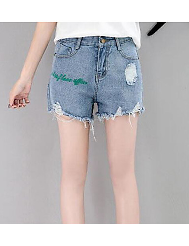 Damen Einfach Mittlere Hüfthöhe Mikro-elastisch Kurze Hosen Breites Bein Hose einfarbig