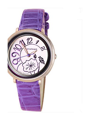 Dámské Módní hodinky čínština Křemenný Kůže Kapela Na běžné nošení Modrá Fialová