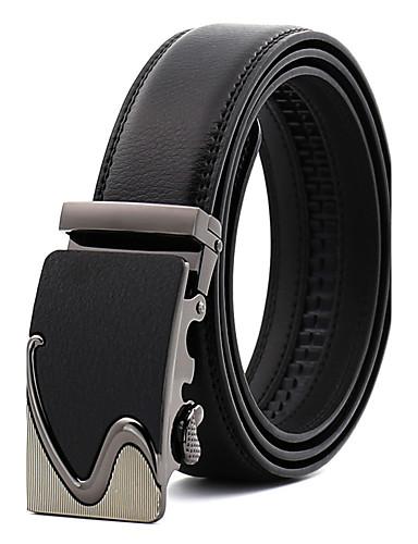 Men's Work Wedding Belt Leather Alloy Waist Belt - Solid Colored Fashion