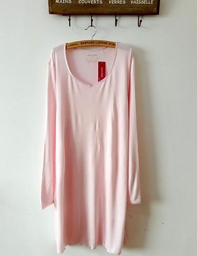 Damen Pyjamas Gestreift Baumwolle Rosa Leicht Blau