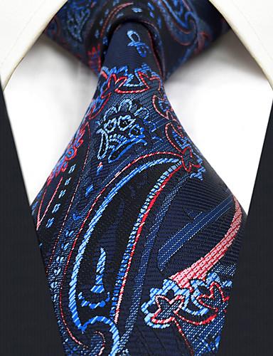 trabalho bonito do partido do vintage dos homens ocasional gravata do rayon - bloco jacquard da cor da galáxia, básico