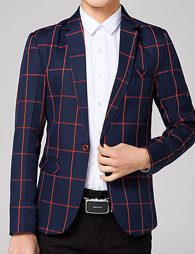 Men's Plus Size Blazer Patchwork