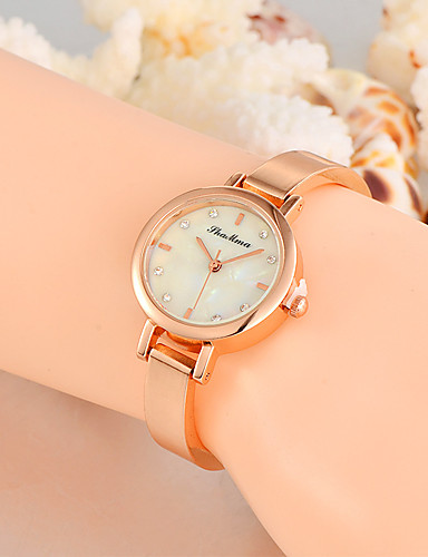 Damen Modeuhr Armbanduhr Einzigartige kreative Uhr Armbanduhren für den Alltag Quartz Legierung Band Charme Luxus Kreativ Freizeit Cool