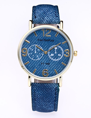 Women's Wrist Watch Casual Watch Leather Band Casual / Fashion Black / White / Blue