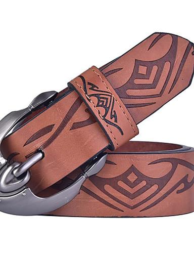 Homens Vintage Casual Liga, Cinto para a Cintura Estampa Colorida