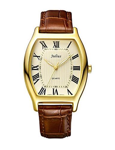 Pánské Módní hodinky japonština Křemenný Voděodolné Kůže Kapela Na běžné nošení Černá Hnědá