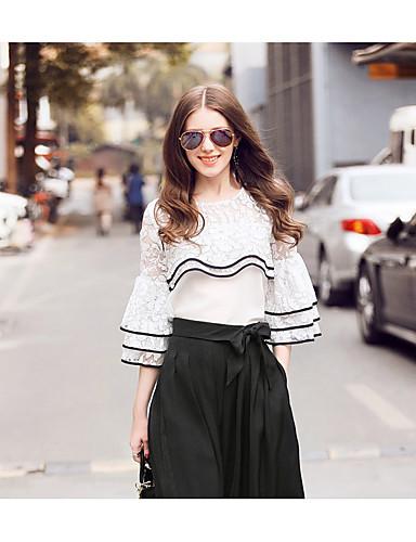 Damen Solide Einfach Lässig/Alltäglich T-shirt,Rundhalsausschnitt Baumwolle
