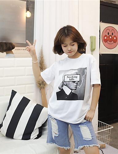 Damen Niedlich Freizeit Baumwolle T-shirt Druck