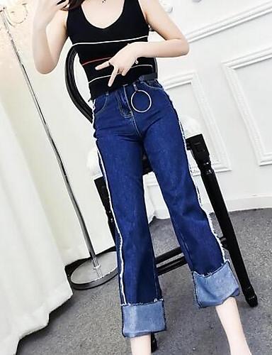 Dámské Jednoduchý strenchy Široké nohavice Kalhoty Široké nohavice Low Rise Barevné bloky