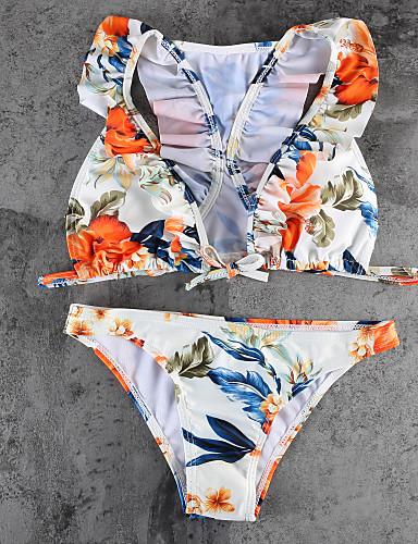 Mulheres Nadador Biquíni - Floral