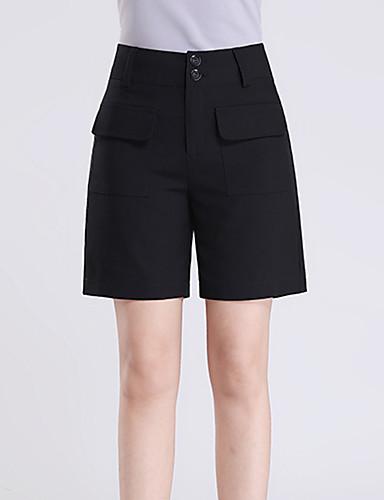Damen Einfach Hohe Hüfthöhe Mikro-elastisch Lose Lässig Hose,Reine Farbe einfarbig