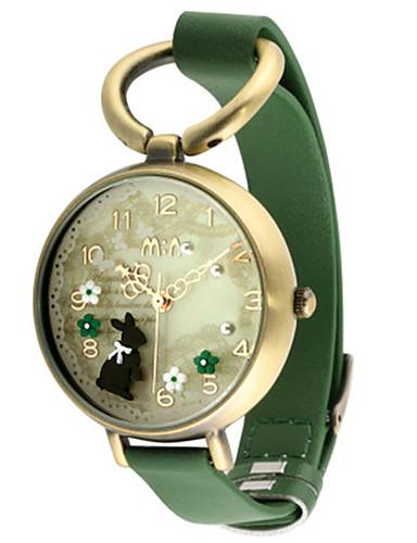 Dámské Módní hodinky Křemenný Kůže Kapela Černá Zelená