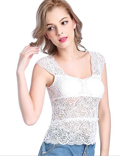 Damen Solide Sexy T-shirt,V-Ausschnitt Frühling Sommer Ärmellos Organische Baumwolle Dünn
