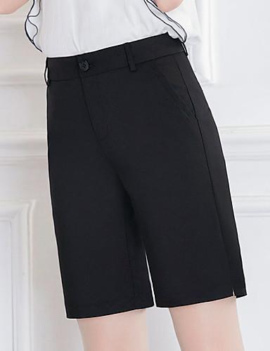 Dámské Jednoduchý Mikro elastické Volné Kalhoty Volný High Rise Čistá barva Jednobarevné