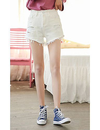 Dámské Jednoduchý Mikro elastické Džíny Kalhoty Široké nohavice High Rise