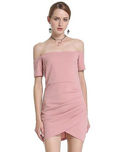 Dámské Jdeme ven Bodycon Šaty - Jednobarevné Mini Úzký výstřih