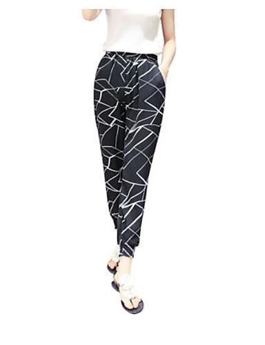 Damen Einfach Mittlere Hüfthöhe Mikro-elastisch Eng Gerade Hose einfarbig