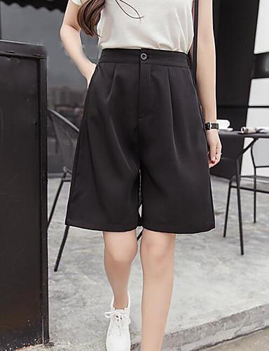 Dámské Jednoduchý Mikro elastické Široké nohavice Kraťasy Kalhoty Široké nohavice Mid Rise Jednobarevné