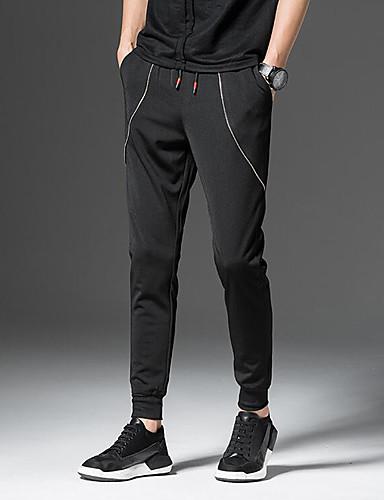 Pánské Šik ven Lehce elastické Harémové Kalhoty Mid Rise Polyester Jednobarevné Jaro Léto Podzim