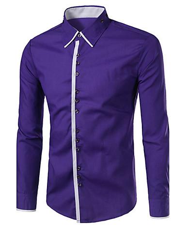 Pánské - Barevné bloky Košile Bavlna