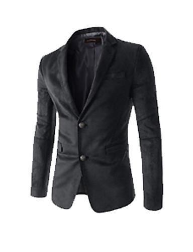 Homens Camisa Social Moda de Rua Sólido / Por favor, sempre escolha um número maior que o seu número normal. / Manga Longa