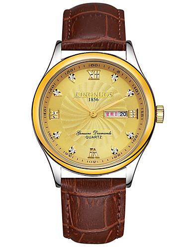 KINGNUOS Pánské Módní hodinky Náramkové hodinky Unikátní Creative hodinky Hodinky na běžné nošení Křemenný Kalendář Pravá kůže KapelaCool