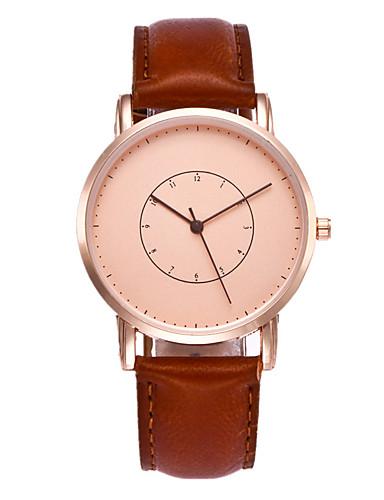 Damen Armbanduhr Modeuhr Armbanduhren für den Alltag Chinesisch Quartz PU Band Freizeit Cool Schwarz Braun