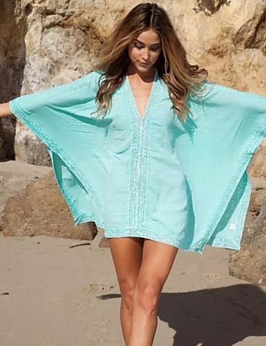Damen Cover-Up - Klassicher Stil, Solide / Volltonfarbe