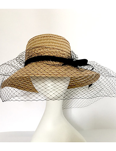 Women's Party Fashion Sun Hat - Solid Colored