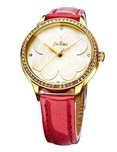 Dámské Módní hodinky Křemenný Voděodolné Kůže Kapela Na běžné nošení Černá Bílá Červená Hnědá Růžová