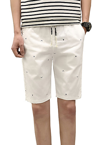 Pánské Roztomilý Na běžné nošení Aktivní Šik ven Lehce elastické Štíhlý Kalhoty chinos Kraťasy Kalhoty Low Rise Bavlna Polyester Spandex